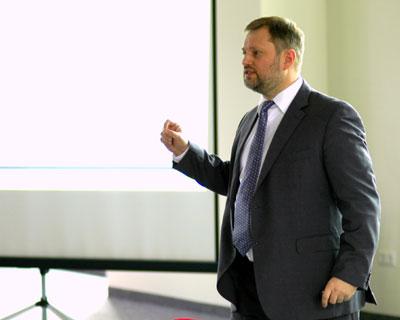 Grahams Vortrag in der Denkfabrik