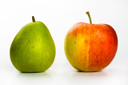 äpfel und birnen in der ideenbewertung