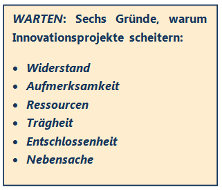 innovationsprojekt warten